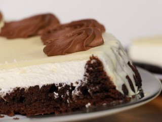 Tarta Suiza, chocolate blanco