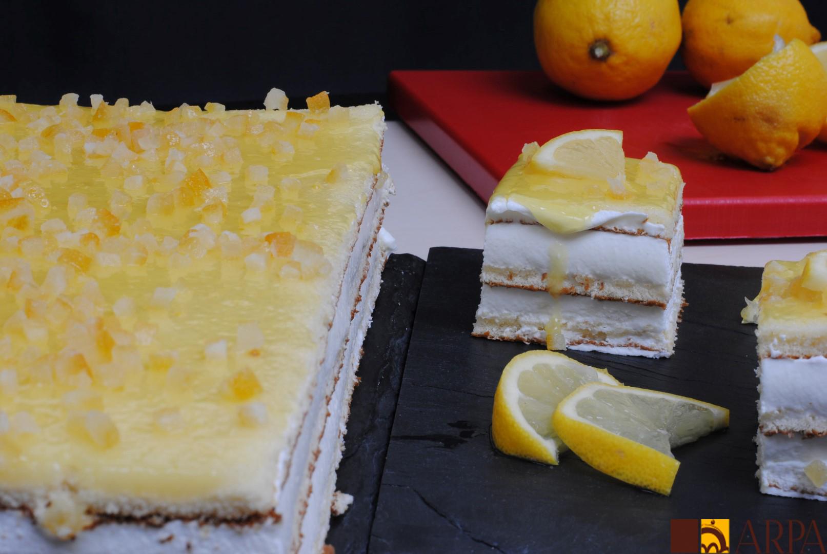 Plancha de limón entera y cortada