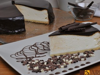 Pastel de Queso con Chocholate