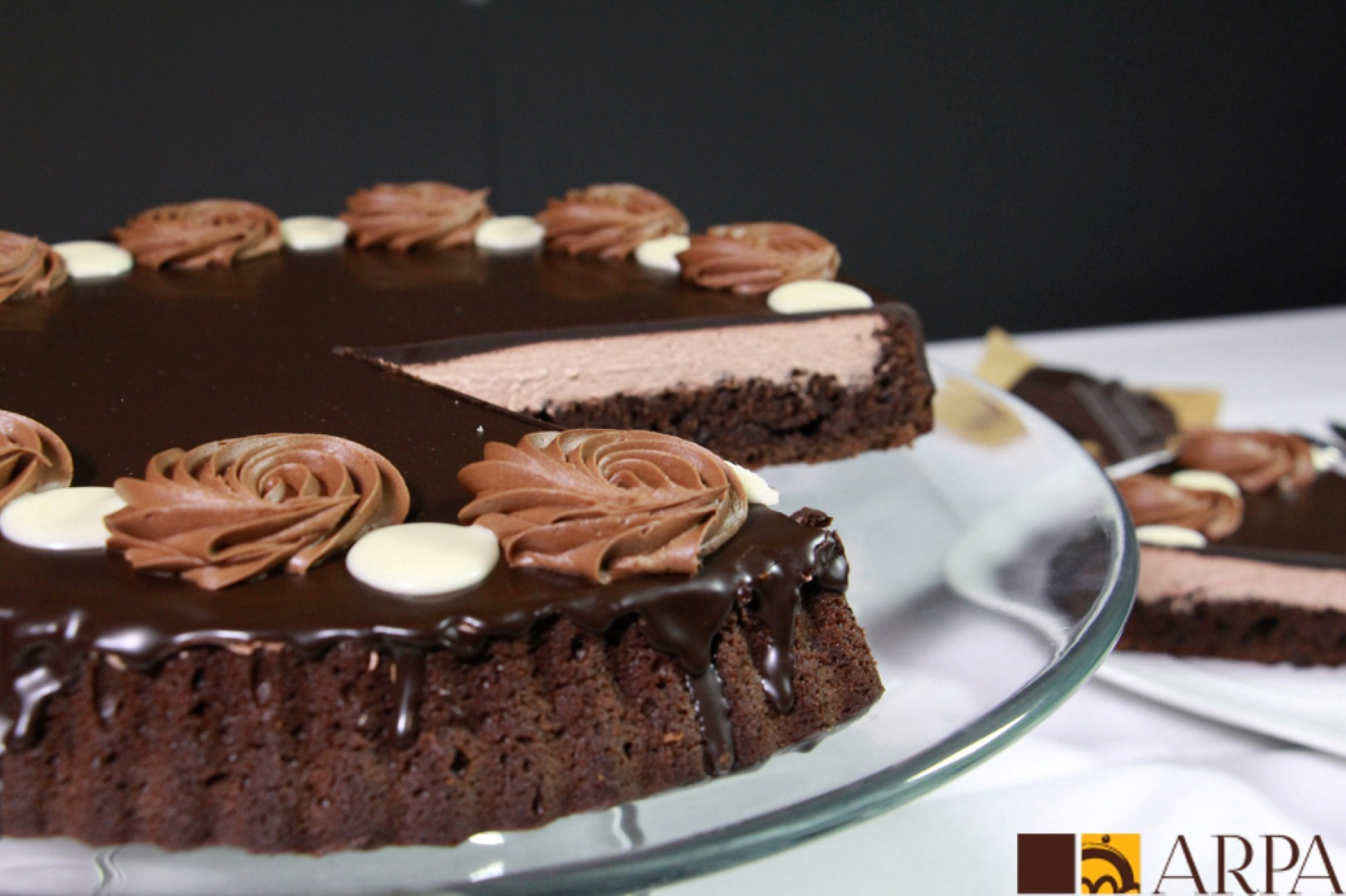 Tarta de 3 chocolate negro