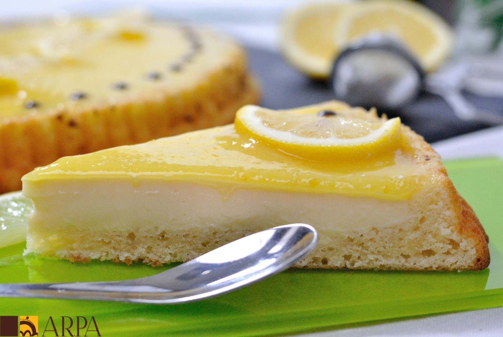 Tarta de refrescante crema de limón